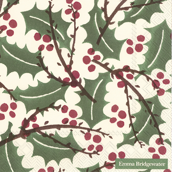 Papieren Servetten Holly and Berry - Emma Bridgewater